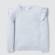 Rib Sweater  SOFT BLUE MARLE  hi-res