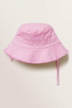 Frayed Brim Bucket Hat  FAIRY FLOSS  hi-res