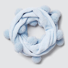 Velvet Chenille Snood  SOFT BLUE  hi-res