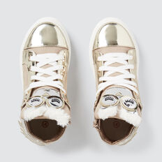Owl Hightop Sneakers  GOLD  hi-res