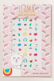 Llama Nail Stickers  MULTI  hi-res