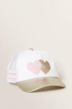 Love Heart Sequin Cap  MULTI  hi-res