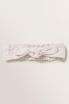 Stripe Woven Headband  SAND  hi-res