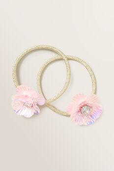 Flower Elastics  PINK  hi-res