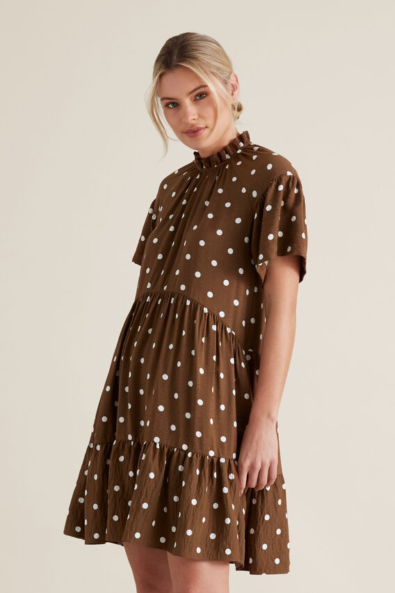High Neck Spotty Dress by Seed Heritage