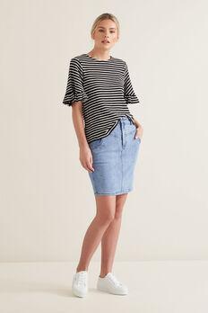 Stitch Denim Skirt  CLASSIC DENIM  hi-res