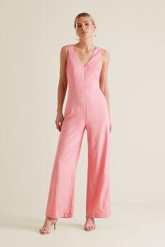 Tuxedo Jumpsuit  WATERMELON PINK  hi-res