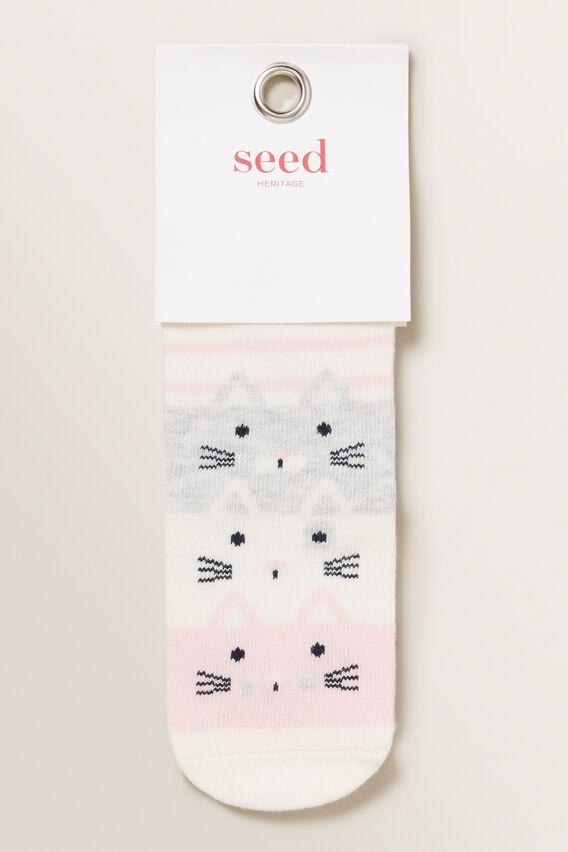 Stack-A-Cat Sock  MULTI  hi-res