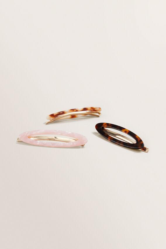 Oval Tort Hair Pins  MULTI  hi-res