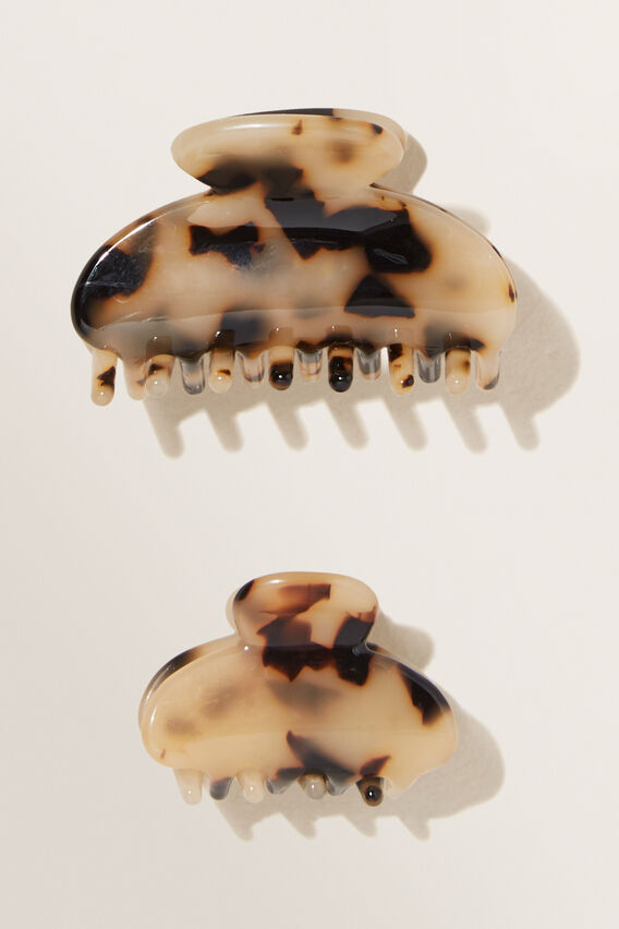 Hair Clip Two Pack  TORT  hi-res
