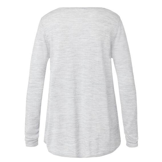 Hi Low Hem Sweater  MID GREY MARLE  hi-res