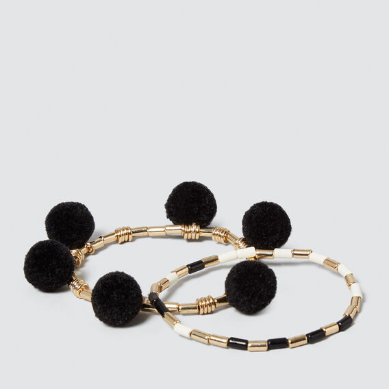 Stretch Pom Pom Bracelet  GOLD  hi-res