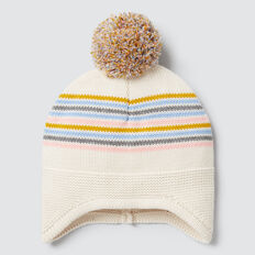 Stripe Knit Beanie  MULTI  hi-res