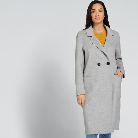 Longline Coat  MID GREY MARLE  hi-res