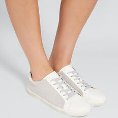 Ollie Leather Sneaker  SILVER  hi-res