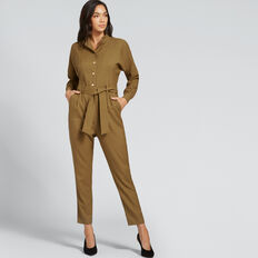 High Neck Jumpsuit  DARK KHAKI  hi-res