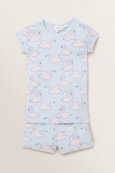 Swan Short Sleeve Pyjamas  BLUE MARLE  hi-res