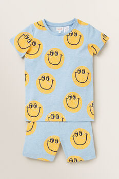 Smiley Pyjama  SLEEPY BLUE MARLE  hi-res