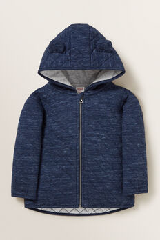 Double Knit Hoodie  NAVY SPACE DYE  hi-res