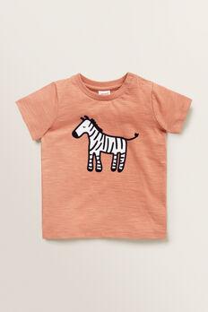 Zebra Tee  TERRACOTTA  hi-res
