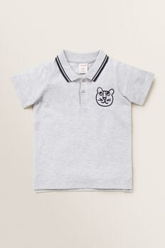 Animal Motif Polo  CLOUDY MARLE  hi-res