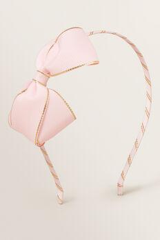Gold Trim Bow Headband  PINK  hi-res