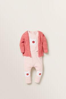 Little Bear Bodysuit  APRICOT  hi-res