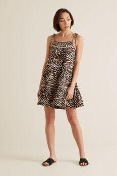 Multi Zebra Dress  ZEBRA PRINT  hi-res