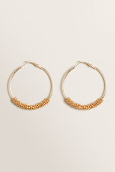 Beaded Hoops  GOLD  hi-res
