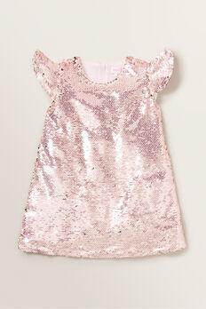 Sequin Frill Dress  ICE PINK  hi-res