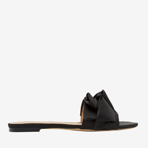 Lilly Frill Slide  BLACK  hi-res