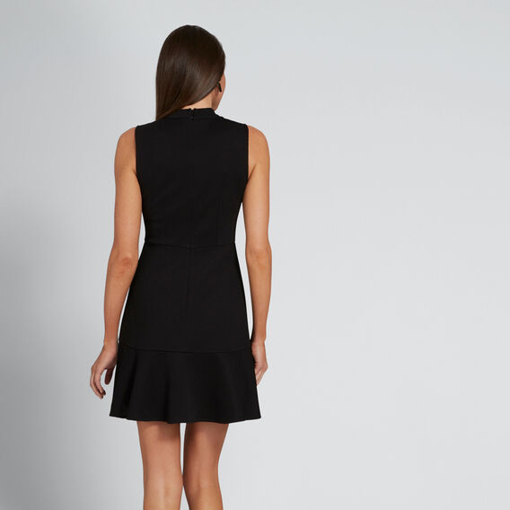Frill Hem Dress  BLACK  hi-res