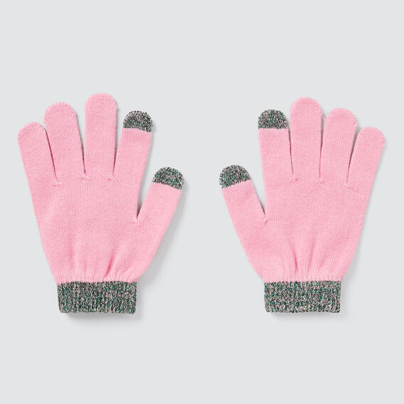 Metallic Trim Gloves  PINK BLUSH  hi-res
