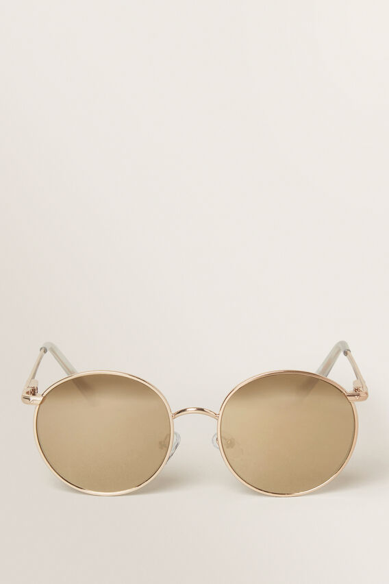 Gold Wire Frame Sunglasses  GOLD  hi-res