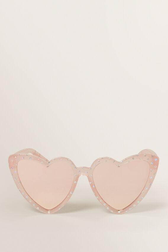 Heart Foil Sunglasses  CLEAR  hi-res