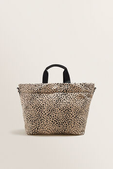 Cheetah Print Tote  NEUTRAL BEIGE  hi-res