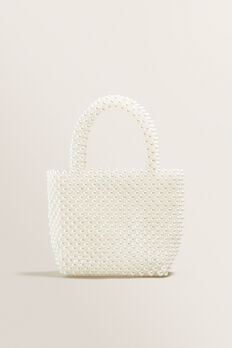 Mini Beaded Tote  PEARL  hi-res