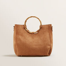 Bamboo Handle Tote  TAN  hi-res