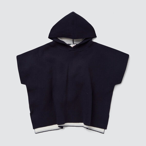 Double Knit Poncho  NAVY  hi-res