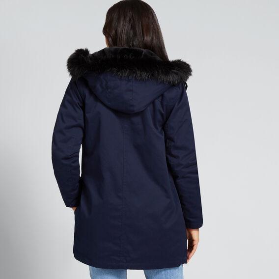 Faux Fur Lined Anorak  NAUTICAL BLUE  hi-res