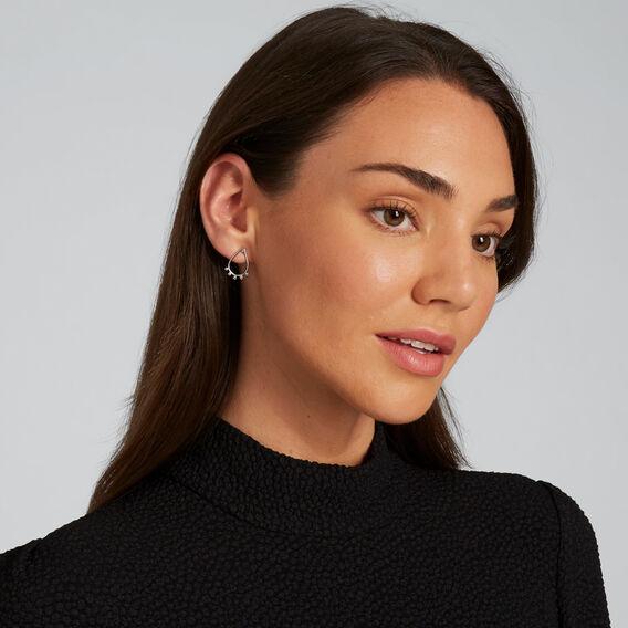 Teardrop Earrings  SILVER  hi-res