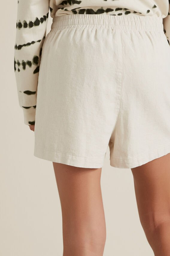 Linen Short  OATMEAL  hi-res