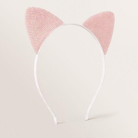 Gem Cat Ears Headband  PINK  hi-res