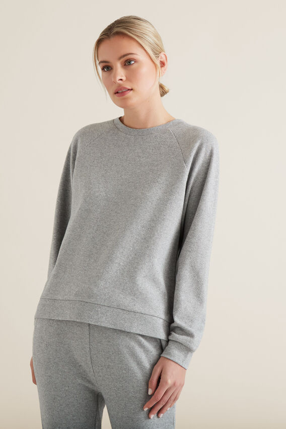 Raglan Cosy Sweater  MID GREY MARLE  hi-res