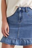 Frill Hem Denim Skirt  CLASSIC DENIM  hi-res