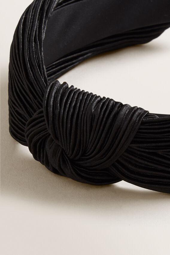 Pleated Headband  BLACK  hi-res