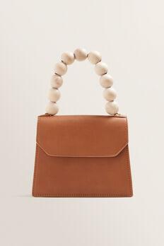 Beaded Handle Bag  TAN  hi-res