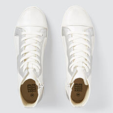Panelled Hightops  WHITE  hi-res