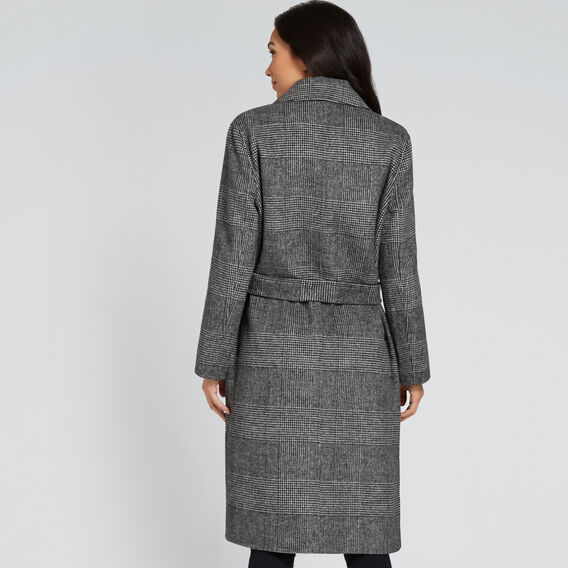 Longline Check Coat  CHECK  hi-res