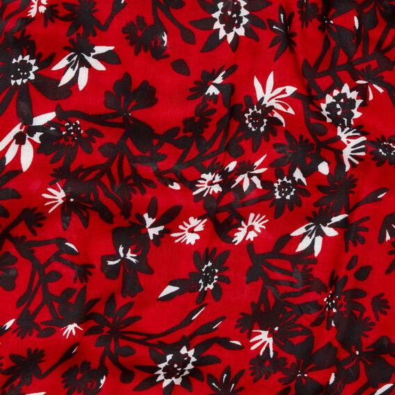 Branch Floral Scarf  RED  hi-res